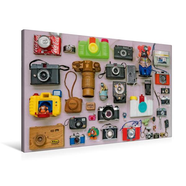 Premium Textil-Leinwand 90 cm x 60 cm quer, Pseudo Kameras | Wandbild, Bild auf Keilrahmen, Fertigbild auf echter Leinwand, Leinwanddruck - Coverbild
