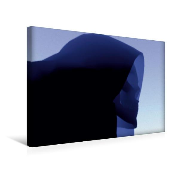 Premium Textil-Leinwand 45 cm x 30 cm quer, Blauer Tod   Wandbild, Bild auf Keilrahmen, Fertigbild auf echter Leinwand, Leinwanddruck - Coverbild
