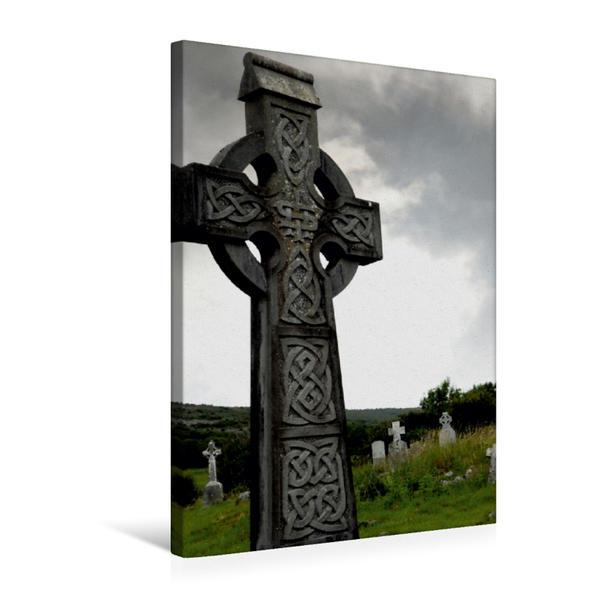 Premium Textil-Leinwand 50 cm x 75 cm hoch, Celtic Cross | Wandbild, Bild auf Keilrahmen, Fertigbild auf echter Leinwand, Leinwanddruck - Coverbild