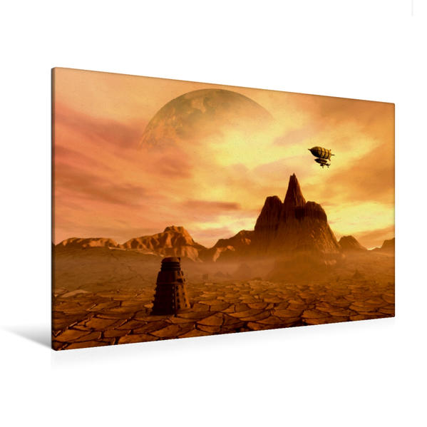 Premium Textil-Leinwand 120 cm x 80 cm quer, Silent Dune | Wandbild, Bild auf Keilrahmen, Fertigbild auf echter Leinwand, Leinwanddruck - Coverbild