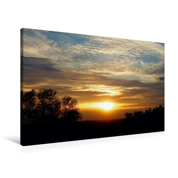 Premium Textil-Leinwand 90 cm x 60 cm quer, Abendglühen | Wandbild, Bild auf Keilrahmen, Fertigbild auf echter Leinwand, Leinwanddruck - Coverbild