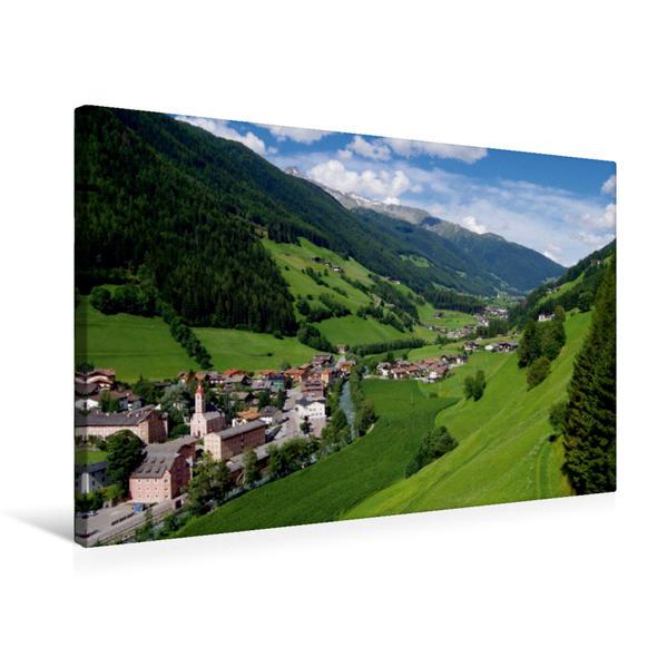 Premium Textil-Leinwand 75 cm x 50 cm quer, Blick auf Steinhaus im Tauferer Ahrntal in Südtirol | Wandbild, Bild auf Keilrahmen, Fertigbild auf echter Leinwand, Leinwanddruck - Coverbild