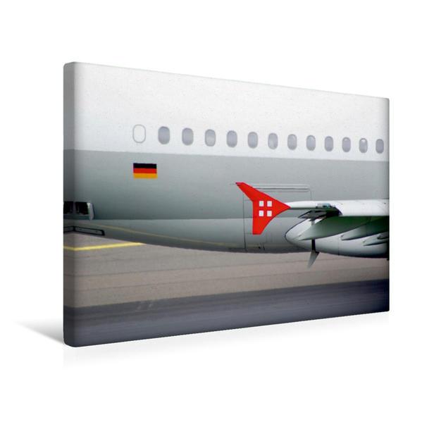 Premium Textil-Leinwand 45 cm x 30 cm quer, Flügelspitze | Wandbild, Bild auf Keilrahmen, Fertigbild auf echter Leinwand, Leinwanddruck - Coverbild