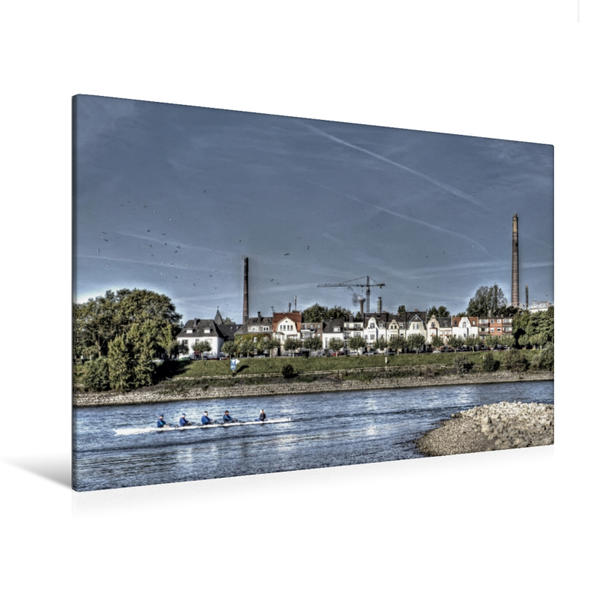 Premium Textil-Leinwand 120 cm x 80 cm quer, RKM 778,5 Kaßlerfeld - Essenberg   Wandbild, Bild auf Keilrahmen, Fertigbild auf echter Leinwand, Leinwanddruck - Coverbild