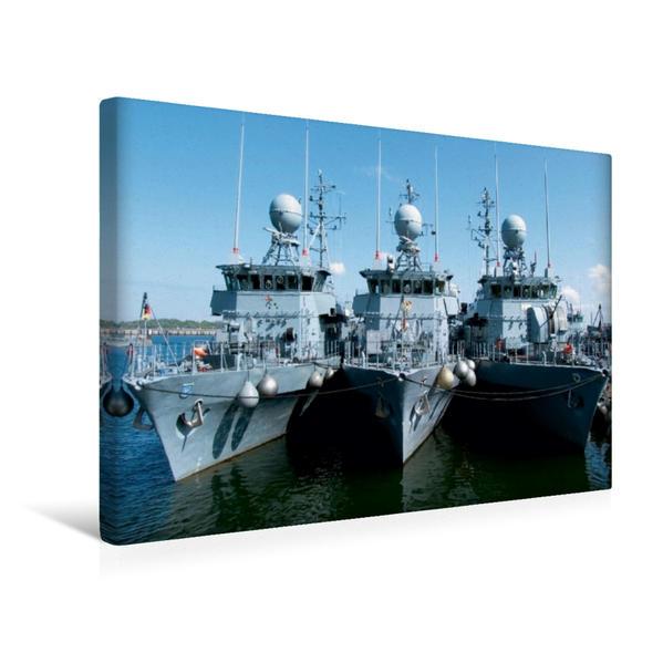 Premium Textil-Leinwand 45 cm x 30 cm quer, Minensuchboote der Marine | Wandbild, Bild auf Keilrahmen, Fertigbild auf echter Leinwand, Leinwanddruck - Coverbild