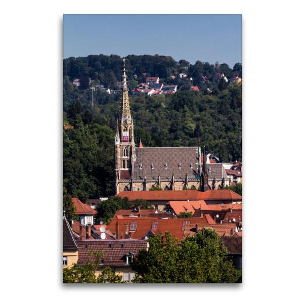 Premium Textil-Leinwand 60 cm x 90 cm hoch, Esslingen am Neckar | Wandbild, Bild auf Keilrahmen, Fertigbild auf echter Leinwand, Leinwanddruck - Coverbild