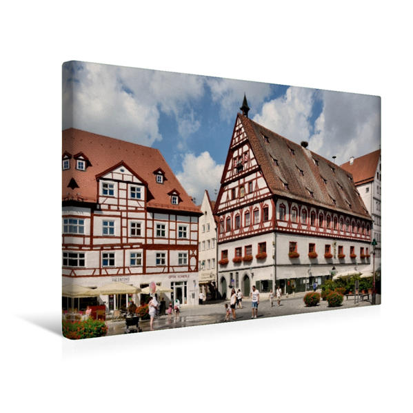 Premium Textil-Leinwand 45 cm x 30 cm quer, Brot - und Tanzhaus   Wandbild, Bild auf Keilrahmen, Fertigbild auf echter Leinwand, Leinwanddruck - Coverbild