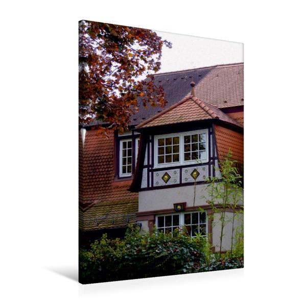 Premium Textil-Leinwand 60 cm x 90 cm hoch, Ein Motiv aus dem Kalender Traumhafte Villen in Buchschlag | Wandbild, Bild auf Keilrahmen, Fertigbild auf echter Leinwand, Leinwanddruck - Coverbild