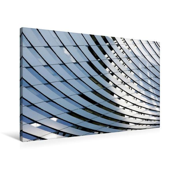 Premium Textil-Leinwand 90 cm x 60 cm quer, Bürogebäude | Wandbild, Bild auf Keilrahmen, Fertigbild auf echter Leinwand, Leinwanddruck - Coverbild