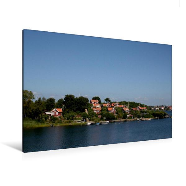 Premium Textil-Leinwand 120 cm x 80 cm quer, Brändaholm bei Karlskrona   Wandbild, Bild auf Keilrahmen, Fertigbild auf echter Leinwand, Leinwanddruck - Coverbild