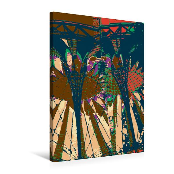 Premium Textil-Leinwand 50 cm x 75 cm hoch, Sony Center Potsdamer Platz | Wandbild, Bild auf Keilrahmen, Fertigbild auf echter Leinwand, Leinwanddruck - Coverbild