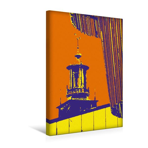 Premium Textil-Leinwand 30 cm x 45 cm hoch, Rathaus | Wandbild, Bild auf Keilrahmen, Fertigbild auf echter Leinwand, Leinwanddruck - Coverbild