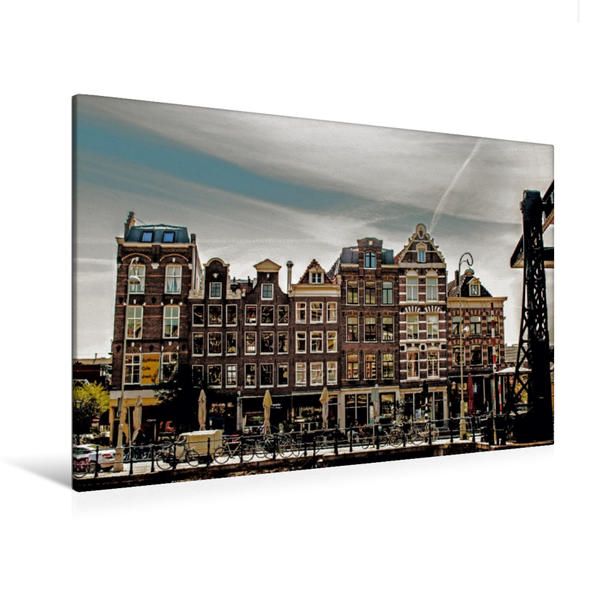 Premium Textil-Leinwand 120 cm x 80 cm quer, Fassadenvielfalt | Wandbild, Bild auf Keilrahmen, Fertigbild auf echter Leinwand, Leinwanddruck - Coverbild