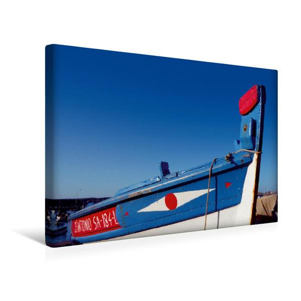 Premium Textil-Leinwand 45 cm x 30 cm quer, Ein Motiv aus dem Kalender Portugal, traditionelle Fischerboote | Wandbild, Bild auf Keilrahmen, Fertigbild auf echter Leinwand, Leinwanddruck - Coverbild