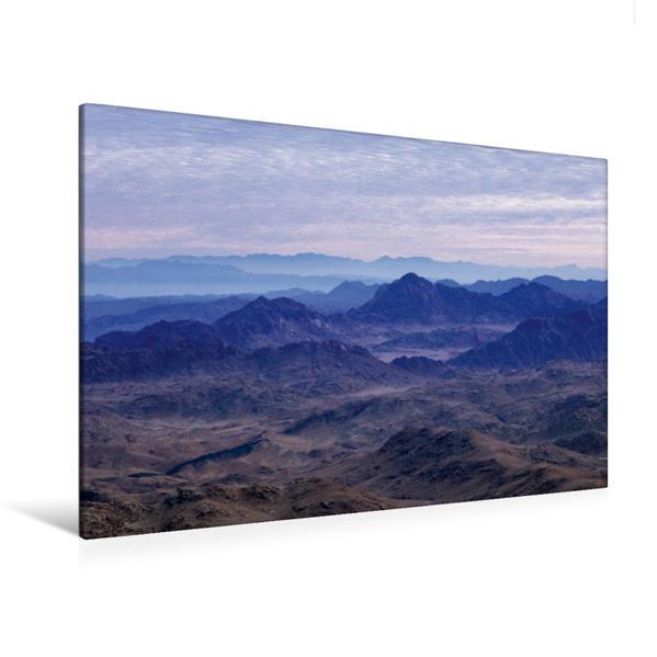 Premium Textil-Leinwand 120 cm x 80 cm quer, Ein Motiv aus dem Kalender Sinai - Landschaft aus Fels und Sand | Wandbild, Bild auf Keilrahmen, Fertigbild auf echter Leinwand, Leinwanddruck - Coverbild