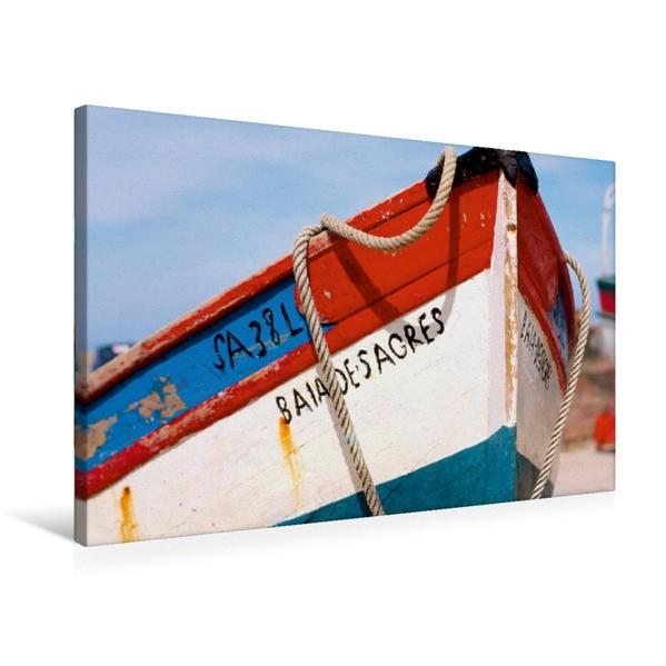 Premium Textil-Leinwand 75 cm x 50 cm quer, Ein Motiv aus dem Kalender Portugal, traditionelle Fischerboote | Wandbild, Bild auf Keilrahmen, Fertigbild auf echter Leinwand, Leinwanddruck - Coverbild