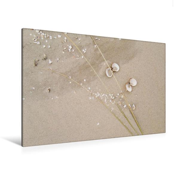 Premium Textil-Leinwand 120 cm x 80 cm quer, Ein Motiv aus dem Kalender Nordsee – Dünen, Sand, Wasser und Wolken | Wandbild, Bild auf Keilrahmen, Fertigbild auf echter Leinwand, Leinwanddruck - Coverbild