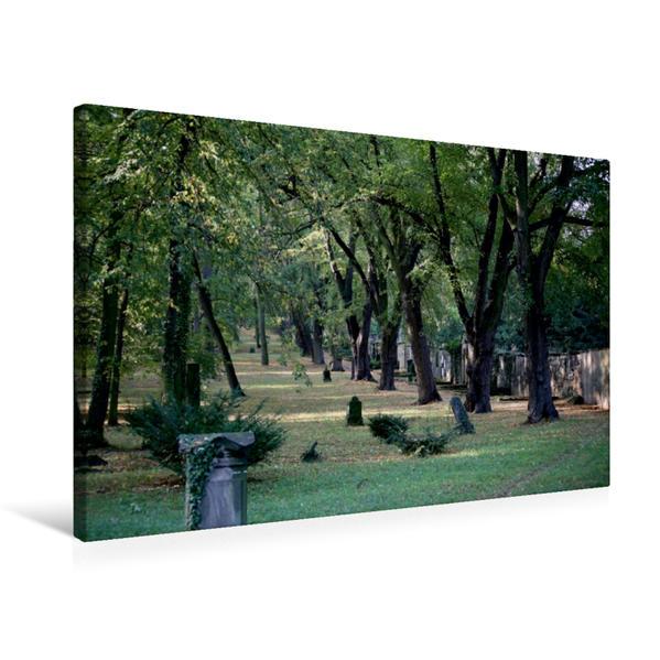 Premium Textil-Leinwand 75 cm x 50 cm quer, Historischer Friedhof Weimar | Wandbild, Bild auf Keilrahmen, Fertigbild auf echter Leinwand, Leinwanddruck - Coverbild