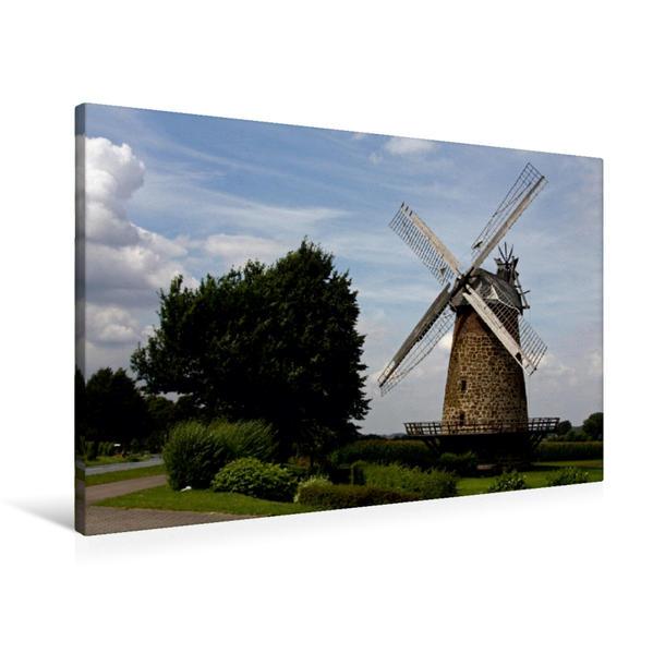 Premium Textil-Leinwand 90 cm x 60 cm quer, Königsmühle Eilhausen (Galerieholländer) | Wandbild, Bild auf Keilrahmen, Fertigbild auf echter Leinwand, Leinwanddruck - Coverbild
