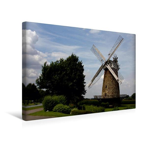 Premium Textil-Leinwand 45 cm x 30 cm quer, Königsmühle Eilhausen (Galerieholländer) | Wandbild, Bild auf Keilrahmen, Fertigbild auf echter Leinwand, Leinwanddruck - Coverbild