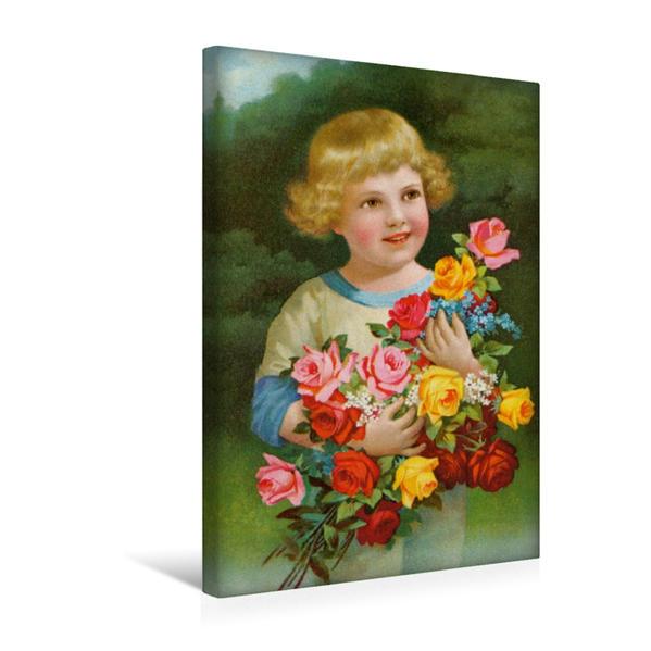 Premium Textil-Leinwand 30 cm x 45 cm hoch, Blumenkind | Wandbild, Bild auf Keilrahmen, Fertigbild auf echter Leinwand, Leinwanddruck - Coverbild