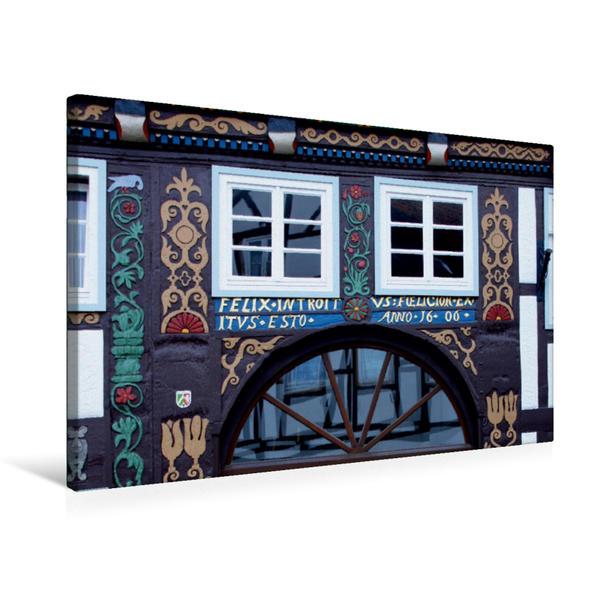 Premium Textil-Leinwand 75 cm x 50 cm quer, Das Doktorhaus in Blomberg   Wandbild, Bild auf Keilrahmen, Fertigbild auf echter Leinwand, Leinwanddruck - Coverbild