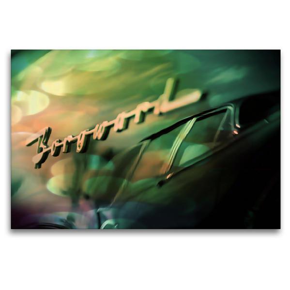Premium Textil-Leinwand 120 cm x 80 cm quer, Oldtimer aus Deutschland   Wandbild, Bild auf Keilrahmen, Fertigbild auf echter Leinwand, Leinwanddruck - Coverbild
