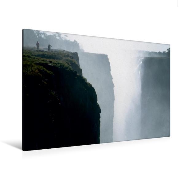 Premium Textil-Leinwand 120 cm x 80 cm quer, Ein Motiv aus dem Kalender Victoria Wasserfälle, Mosi-oa-Tunya der