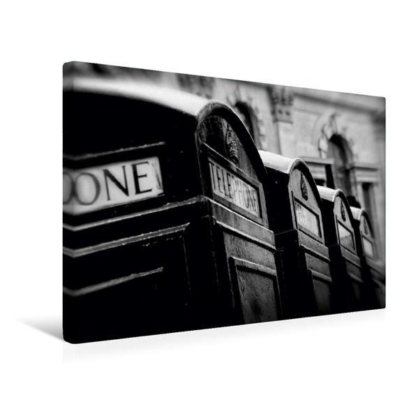 Premium Textil-Leinwand 45 cm x 30 cm quer, Phone boxes | Wandbild, Bild auf Keilrahmen, Fertigbild auf echter Leinwand, Leinwanddruck - Coverbild