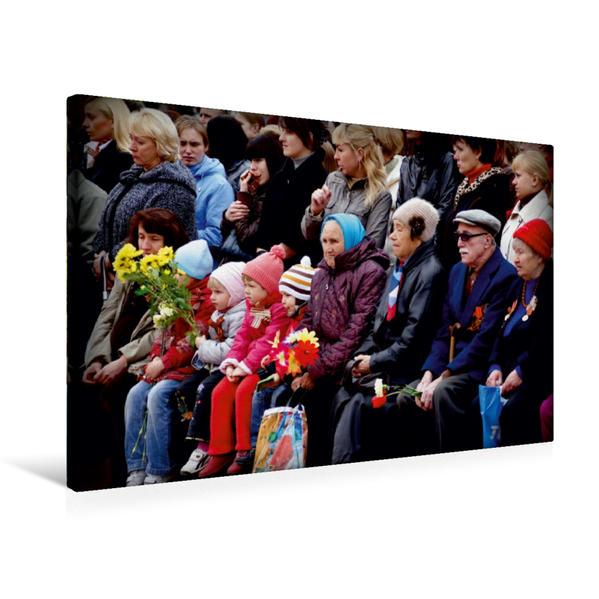 Premium Textil-Leinwand 75 cm x 50 cm quer, Der 9. Mai in Russland - Ein Motiv aus dem Kalender