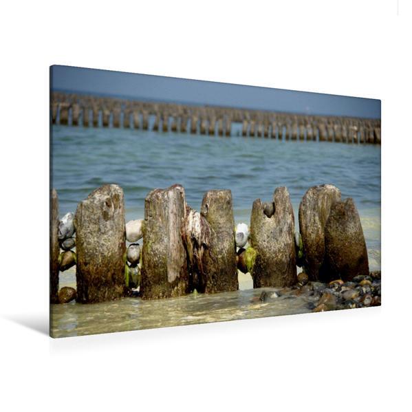 Premium Textil-Leinwand 120 cm x 80 cm quer, Ostseeimpression | Wandbild, Bild auf Keilrahmen, Fertigbild auf echter Leinwand, Leinwanddruck - Coverbild