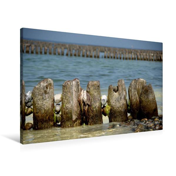 Premium Textil-Leinwand 90 cm x 60 cm quer, Ostseeimpression | Wandbild, Bild auf Keilrahmen, Fertigbild auf echter Leinwand, Leinwanddruck - Coverbild