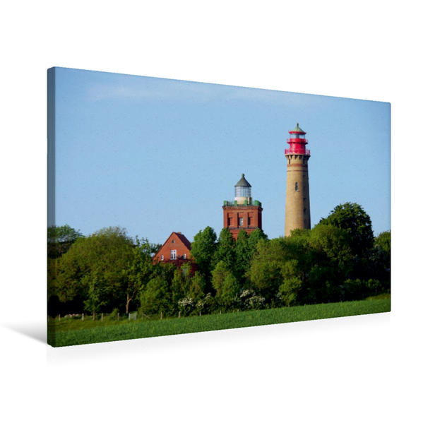 Premium Textil-Leinwand 75 cm x 50 cm quer, Kap Arkona ( Insel Rügen D ) | Wandbild, Bild auf Keilrahmen, Fertigbild auf echter Leinwand, Leinwanddruck - Coverbild