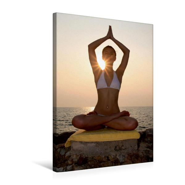 Premium Textil-Leinwand 50 cm x 75 cm hoch, Yoga Körperformen | Wandbild, Bild auf Keilrahmen, Fertigbild auf echter Leinwand, Leinwanddruck - Coverbild