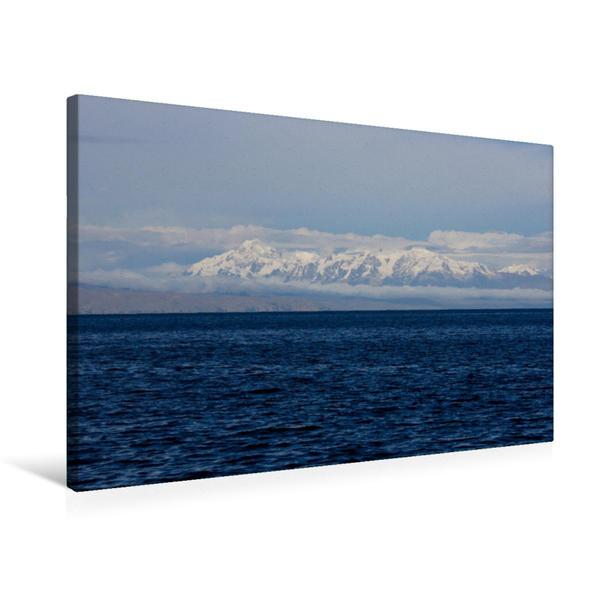 Premium Textil-Leinwand 75 cm x 50 cm quer, Titicacasee - Bolivien   Wandbild, Bild auf Keilrahmen, Fertigbild auf echter Leinwand, Leinwanddruck - Coverbild