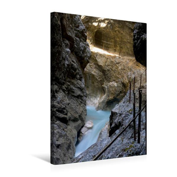Premium Textil-Leinwand 50 cm x 75 cm hoch, Ein Motiv aus dem Kalender Höllentalklamm   Wandbild, Bild auf Keilrahmen, Fertigbild auf echter Leinwand, Leinwanddruck - Coverbild