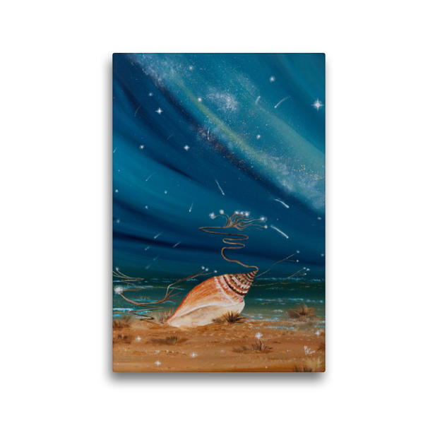 Premium Textil-Leinwand 30 cm x 45 cm hoch, Der Sternenfänger | Wandbild, Bild auf Keilrahmen, Fertigbild auf echter Leinwand, Leinwanddruck - Coverbild