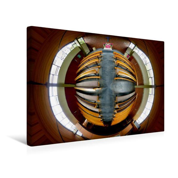 Premium Textil-Leinwand 45 cm x 30 cm quer, Andreaskirche in Bielefeld - Babenhausen | Wandbild, Bild auf Keilrahmen, Fertigbild auf echter Leinwand, Leinwanddruck - Coverbild