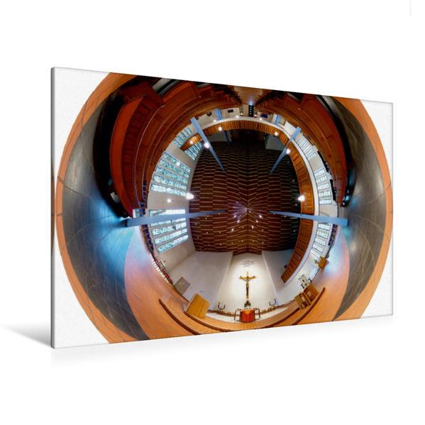 Premium Textil-Leinwand 120 cm x 80 cm quer, Eckardskirche in Bielefeld - Eckardsheim | Wandbild, Bild auf Keilrahmen, Fertigbild auf echter Leinwand, Leinwanddruck - Coverbild