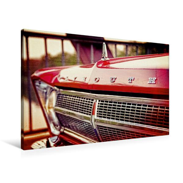 Premium Textil-Leinwand 90 cm x 60 cm quer, US-Muscle-Cars | Wandbild, Bild auf Keilrahmen, Fertigbild auf echter Leinwand, Leinwanddruck - Coverbild