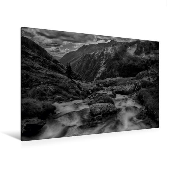 Premium Textil-Leinwand 120 cm x 80 cm quer, Ins Tal | Wandbild, Bild auf Keilrahmen, Fertigbild auf echter Leinwand, Leinwanddruck - Coverbild