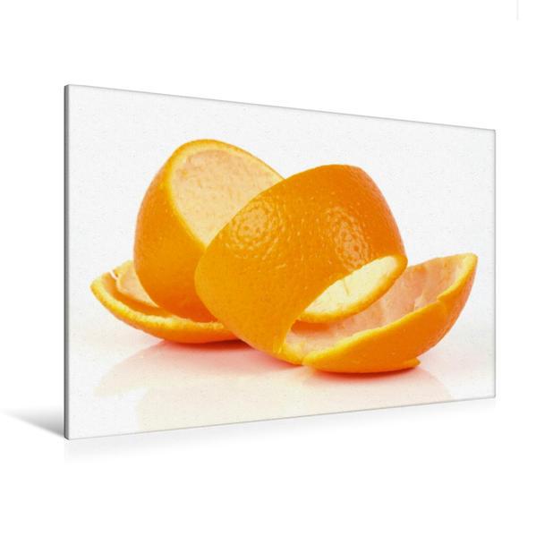 Premium Textil-Leinwand 120 cm x 80 cm quer, Orangenschale | Wandbild, Bild auf Keilrahmen, Fertigbild auf echter Leinwand, Leinwanddruck - Coverbild