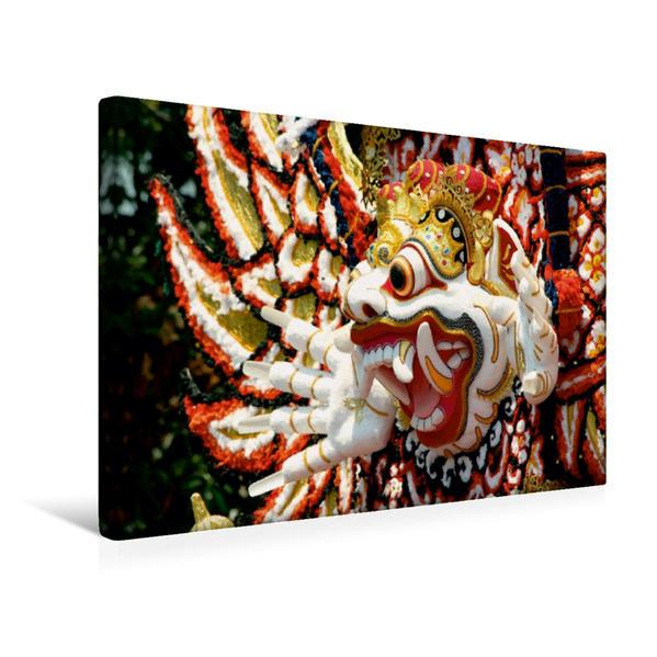 Premium Textil-Leinwand 45 cm x 30 cm quer, Der dämonische Erdgott Kala Boma, Bali | Wandbild, Bild auf Keilrahmen, Fertigbild auf echter Leinwand, Leinwanddruck - Coverbild