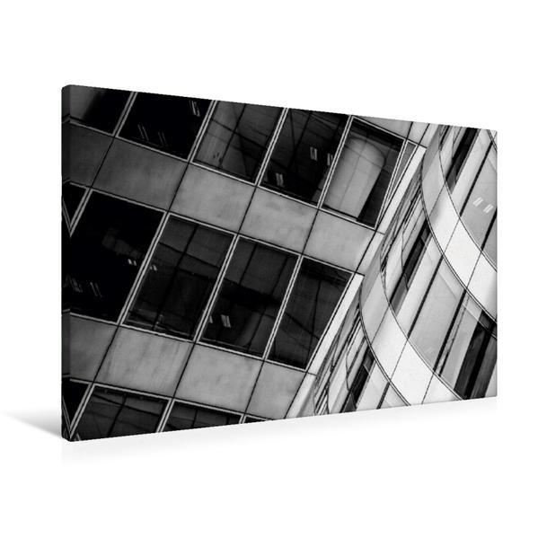Premium Textil-Leinwand 90 cm x 60 cm quer, Paris, EDF Tower | Wandbild, Bild auf Keilrahmen, Fertigbild auf echter Leinwand, Leinwanddruck - Coverbild