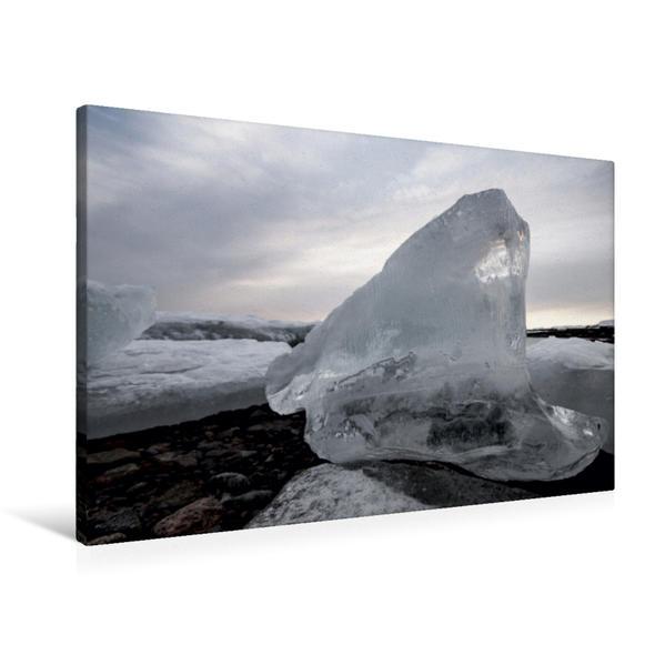Premium Textil-Leinwand 90 cm x 60 cm quer, Oslofjord | Wandbild, Bild auf Keilrahmen, Fertigbild auf echter Leinwand, Leinwanddruck - Coverbild