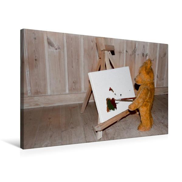 Premium Textil-Leinwand 75 cm x 50 cm quer, Basse bei seinem Hobby | Wandbild, Bild auf Keilrahmen, Fertigbild auf echter Leinwand, Leinwanddruck - Coverbild