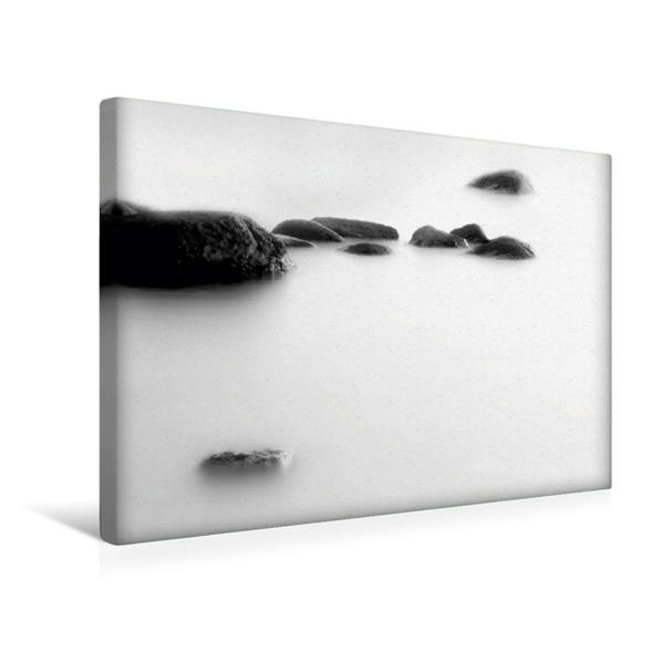 Premium Textil-Leinwand 45 cm x 30 cm quer, Steine | Wandbild, Bild auf Keilrahmen, Fertigbild auf echter Leinwand, Leinwanddruck - Coverbild