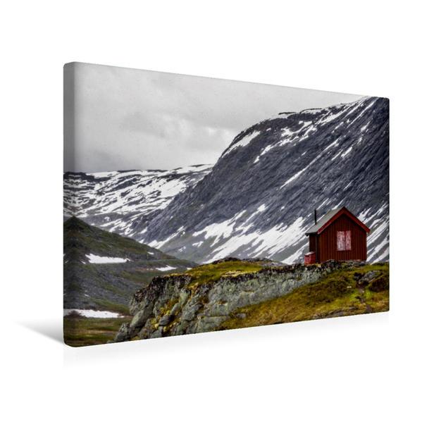 Premium Textil-Leinwand 45 cm x 30 cm quer, Dalsnibba | Wandbild, Bild auf Keilrahmen, Fertigbild auf echter Leinwand, Leinwanddruck - Coverbild