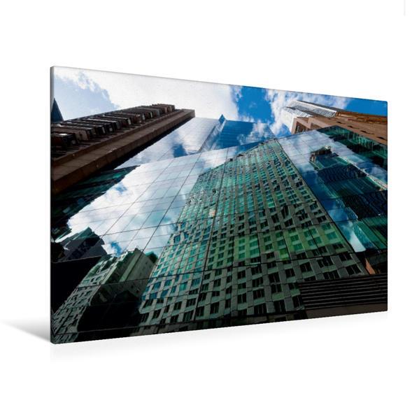 Premium Textil-Leinwand 120 cm x 80 cm quer, Manhattan, Fifth Av. | Wandbild, Bild auf Keilrahmen, Fertigbild auf echter Leinwand, Leinwanddruck - Coverbild