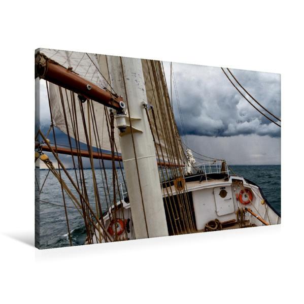 Premium Textil-Leinwand 90 cm x 60 cm quer, holländischer Großsegler